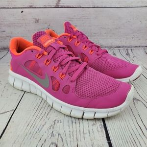 Nike Free 5.0 Pink Orange Running Shoes